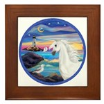 The Wave/Horse (Ar-W) Framed Tile