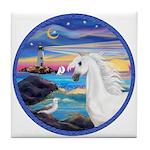 The Wave/Horse (Ar-W) Tile Coaster