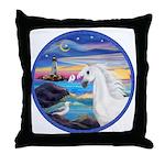 The Wave/Horse (Ar-W) Throw Pillow