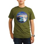 The Wave/Horse (Ar-W) Organic Men's T-Shirt (dark)