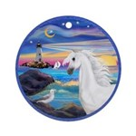 The Wave/Horse (Ar-W) Ornament (Round)