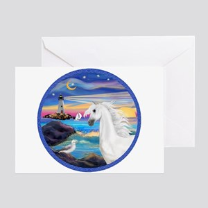 The Wave/Horse (Ar-W) Greeting Card