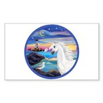 The Wave/Horse (Ar-W) Rectangle Sticker 10 pk)