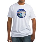 The Wave/Horse (Ar-W) Fitted T-Shirt