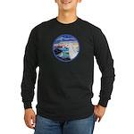 The Wave/Horse (Ar-W) Long Sleeve Dark T-Shirt