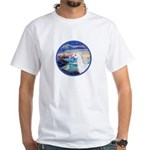 The Wave/Horse (Ar-W) White T-Shirt