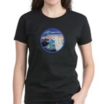 The Wave/Horse (Ar-W) Women's Dark T-Shirt