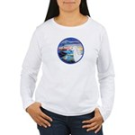 The Wave/Horse (Ar-W) Women's Long Sleeve T-Shirt