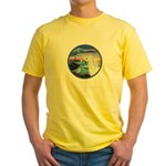 The Wave/Horse (Ar-W) Yellow T-Shirt
