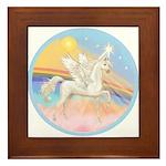 Clouds/Horse (Ar-W) Framed Tile