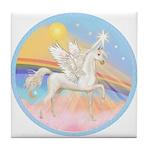 Clouds/Horse (Ar-W) Tile Coaster