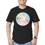 Clouds/Horse (Ar-W) Men's Fitted T-Shirt (dark)
