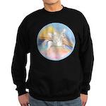 Clouds/Horse (Ar-W) Sweatshirt (dark)