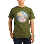 Clouds/Horse (Ar-W) Organic Men's T-Shirt (dark)