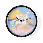 Clouds/Horse (Ar-W) Wall Clock