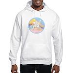 Clouds/Horse (Ar-W) Hooded Sweatshirt