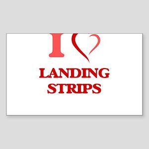 I Love Landing Strips Sticker