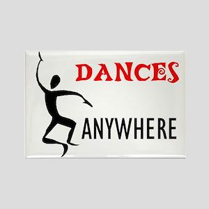 DANCING FOOL Rectangle Magnet