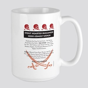 Pirate Personal Ad Large Mug