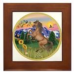 Mt Country/Horse (Ar-Brn) Framed Tile