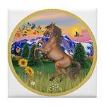 Mt Country/Horse (Ar-Brn) Tile Coaster