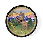 Mt Country/Horse (Ar-Brn) Wall Clock