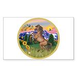 Mt Country/Horse (Ar-Brn) Rectangle Sticker 10 pk
