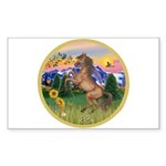 Mt Country/Horse (Ar-Brn) Rectangle Sticker