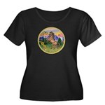Mt Country/Horse (Ar-Brn) Women's Plus Size Scoop