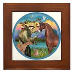 St Francis/Horse (Ar-Brn) Framed Tile