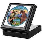 St Francis/Horse (Ar-Brn) Keepsake Box
