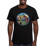 St Francis/Horse (Ar-Brn) Men's Fitted T-Shirt (da