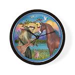 St Francis/Horse (Ar-Brn) Wall Clock