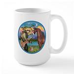St Francis/Horse (Ar-Brn) Large Mug