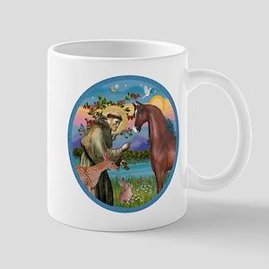 St Francis/Horse (Ar-Brn) Mug
