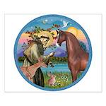 St Francis/Horse (Ar-Brn) Small Poster