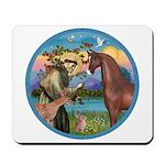 St Francis/Horse (Ar-Brn) Mousepad
