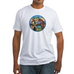 St Francis/Horse (Ar-Brn) Fitted T-Shirt