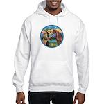 St Francis/Horse (Ar-Brn) Hooded Sweatshirt