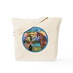 St Francis/Horse (Ar-Brn) Tote Bag