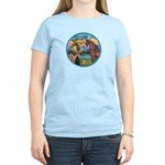 St Francis/Horse (Ar-Brn) Women's Light T-Shirt