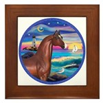 Wave/Horse( Ar-Brn) Framed Tile