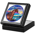 Wave/Horse( Ar-Brn) Keepsake Box