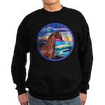 Wave/Horse( Ar-Brn) Sweatshirt (dark)
