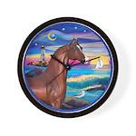 Wave/Horse( Ar-Brn) Wall Clock
