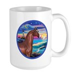 Wave/Horse( Ar-Brn) Large Mug