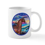 Wave/Horse( Ar-Brn) Mug