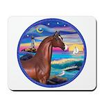Wave/Horse( Ar-Brn) Mousepad