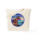Wave/Horse( Ar-Brn) Tote Bag
