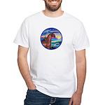 Wave/Horse( Ar-Brn) White T-Shirt